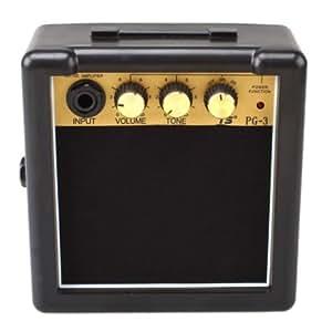 portable mini electric guitar amplifier speaker speakers amp 3w black gold car. Black Bedroom Furniture Sets. Home Design Ideas