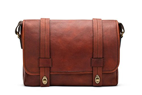 Bosca Washed Leather Messenger by Bosca