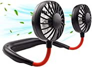 Neck Portable Fan, Hand Free Personal Mini Fans USB Rechargeable,360 Degree Free Rotation for Traveling, Sport