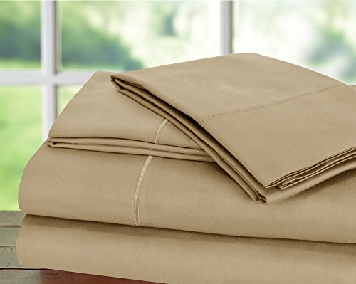 Hotel Collection! Luxury Sheets on Amazon Top Seller in Bedding! - Blockbuster Sale: Todays Special - Luxury 1000 Thread count 100% Egyptian Cotton Sheet Set, King - Taupe