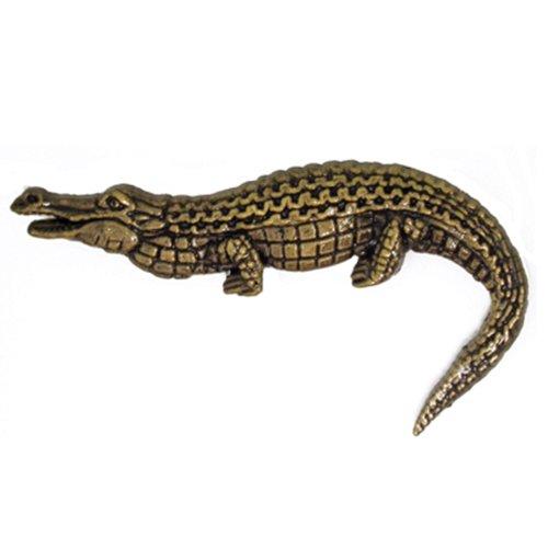 Animal Lapel Pins - Antique Gold Alligator Animal Lapel Pin