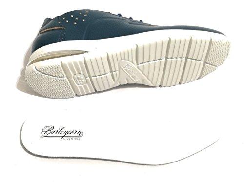 Barleycorn Scarpe Uomo Sneaker Air GRECALE Navy Blue Leather US18BA05