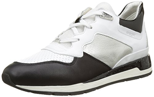 basse Shahira da bianche D Geox bianco donna Sneakers silverc0007 B xqwIxRf
