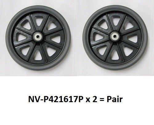 wheels (Pair) (8'') for Nova Mighty Mack 4216 Rollator - Grey - P421617D - Pair by Nova