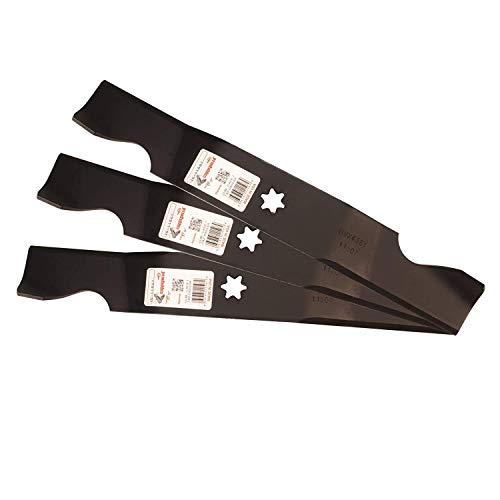 Set of 3, Made In USA Heavy Duty Replacement Blades For Cub Cadet 742-04053, 742-04053A, 942-04053, 942-04053A.