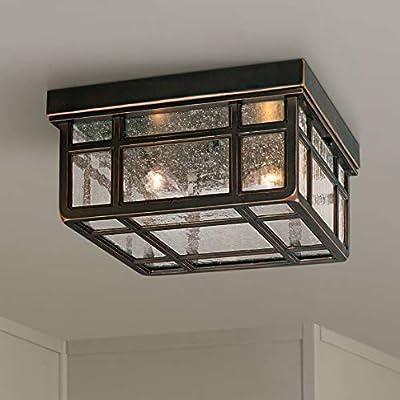 "J du J Sierra Craftsman 10 1/2""W Outdoor Ceiling Light"