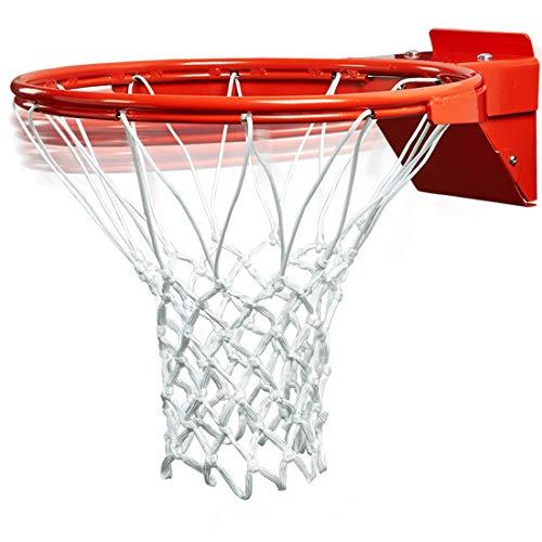katop Basketball Flex Rim Replacement,Heavy Duty Breakaway Spring Basketball Rim Goal(Outdoor and Indoor) (Orange, 18 Inch)