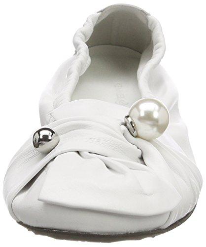 Ballet Women's Weiß Malu Toe Schmenger Closed White Pearl Flats 417 Kennel und SHxwYfZx