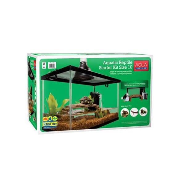 10 Gallon Aquarium Starter Kit Fish Reptile Turtle Habitat Tank Filter Lamp Lid 5