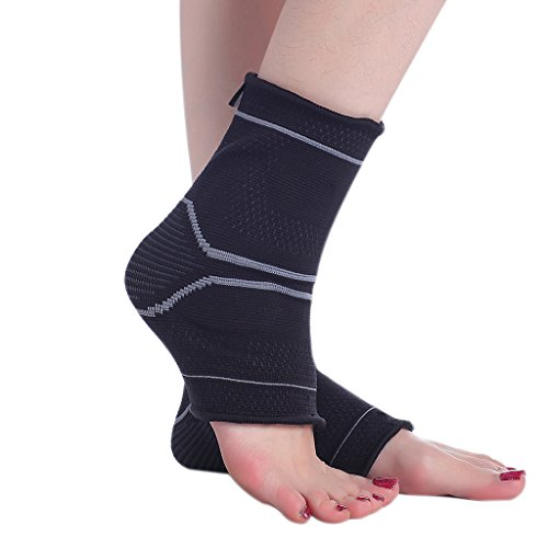 Cotill Sports Ankle Brace Compression Support For Men Women - Gel Fit Design - Relieve Plantar Fasciitis - Ankle Sleeve for Athletics, Injury Recovery, Joint Pain