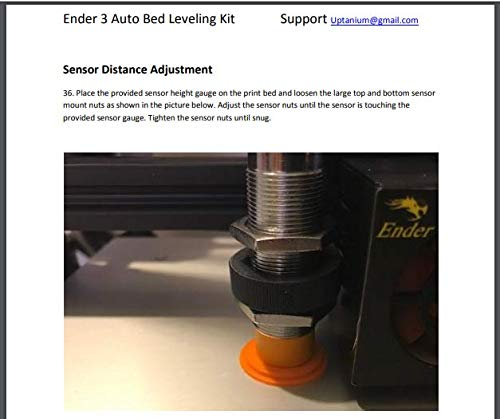 Creality Ender 3 Complete Auto Bed Leveling Kit Glass Compatible  with  Bootloader Burning Tool - Firmware Included