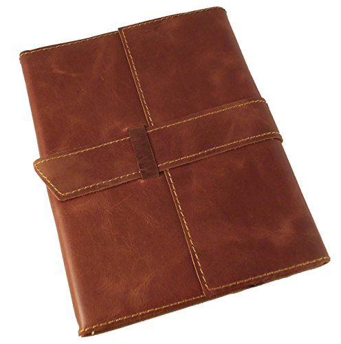 Rustic Ridge Refillable Leather Travel Journal with Handmade Paper - 6