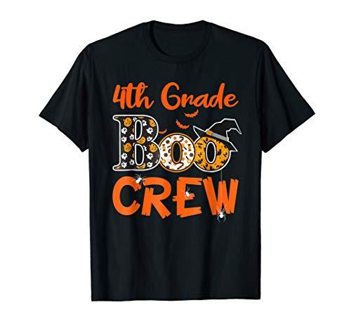 4th Grade Boo Crew T-Shirt Teacher Kids Halloween Gift Shirt