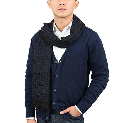 Versace IT00631 MARINO Navy Blue 100% Wool Mens Scarf ()