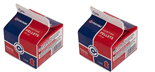 Crosman Field Hunting .177 Cal, 7.4 Grains, Pointed, 1250ct (2 BOXES) by Crosman