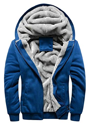 Winter Coats Warm Men's Pocket Hoodies Zipper Fleece Plus with Size Solid Gocgt Jacket 1 S4Xqxq