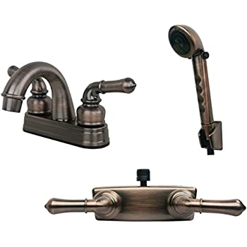 Laguna Brass 2000ACP//3220ACP//4120CP Chrome Finish Faucet with Matching Hand Shower Combo