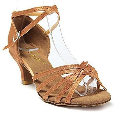 par Sandalias 34 Beige Bachata Salsa Zapatos Mujer De Zapatos Baile Generico Shoe Tacon Tacon Latin Mujer 1 Latinos WqnRf4wF
