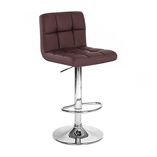 """2 Modern Adjustable """"Leather"""" Swivel Pub Style Bar Stools / Barstools Brown"""