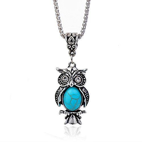 cklace Pendant Amulet Jewelry Vintage Look Versatile Design Created Turquoise ()