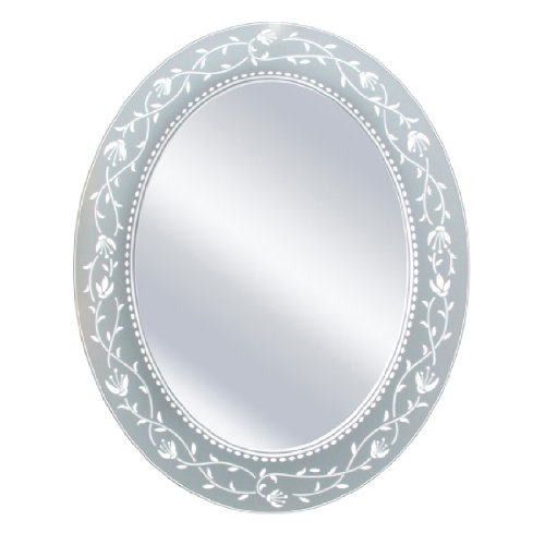 Head West Fuchsia Oval Mirror, 23 by -