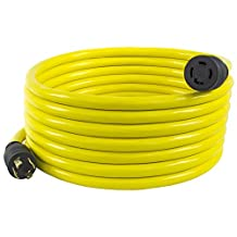 Conntek 20601, 25-Feet 30-Amp Generator Extension Cord/Transfer Switch Cord with 125/250V, 4 Prong, NEMA L14-30P/R