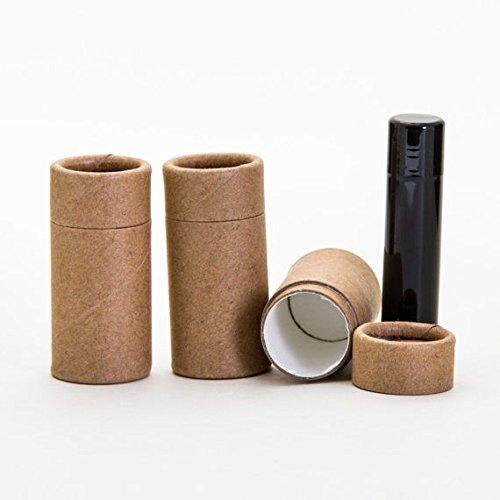 Kraft Paper Tubes (1/2 OZ Kraft Paperboard Lip Balm/Salve/Cosmetic/Lotion Tubes x12)