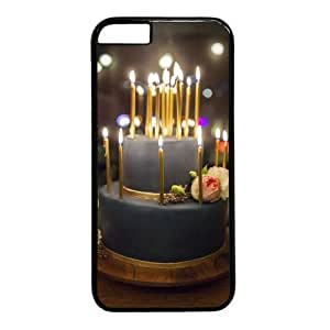 """Beautiful Cake Theme Case for iPhone 6(4.7"""") PC Material Black"""