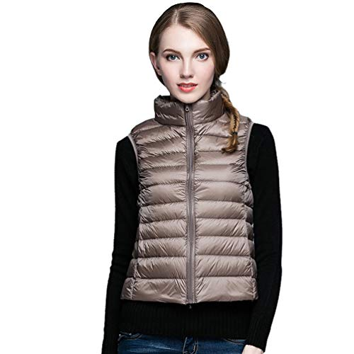 elegante Global Cammello Inverno colletto ultraleggero Tt Autunno senza Piumino Women Maglia Piumini pieghevoli tZ77dq