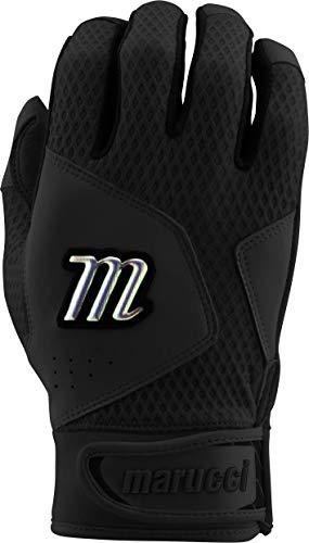 Marucci Sports Equipment Sports, MBGQST2-BK/BK-AL, Quest 2.0 Batting Gloves