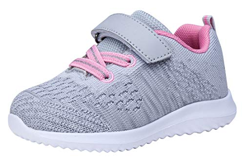 COODO Toddler/Little Kid Boys Girls Shoes Running Sports Sneakers (8 Toddler,Lt.Grey)