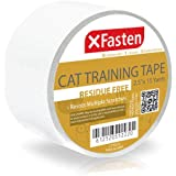 XFasten Title Anti-Scratch Cat Training Tape, Clear, 2.5-Inches x 15 Yards