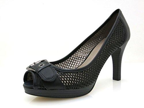 D'été Chaussures Uno Via Femme Chaussures Noir Chaussures Ouvert Hauts Bout Talons 20956502 8TTWxqwgB