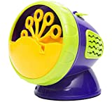 MNII Electronic Automatic Bubble Machine,Green Plastic Bubble Blowing Soap Bubbles Baby Toys Fully Automatic,Does Not Contain Battery