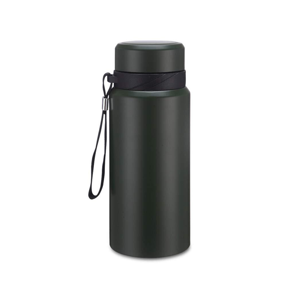 Sportflasche Isolier Becher Thermo Becher Travel Mug Kaffeebecher Wasserflasche Trinkbehälter Trinkflaschen-Edelstahlmode Tragbarer Großer Wasserbecher Der Großen Kapazität FENPING