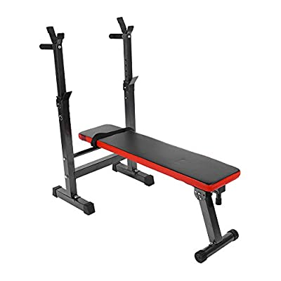 Fitness Bench, Adjustable Foldable Weight/Sit Up Exercise Workout Bench for Home Gym Fitness