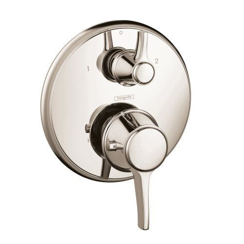 Hansgrohe 15753831 Metris C Thermostatic Trim with Volume Control and Diverter, Polished Nickel