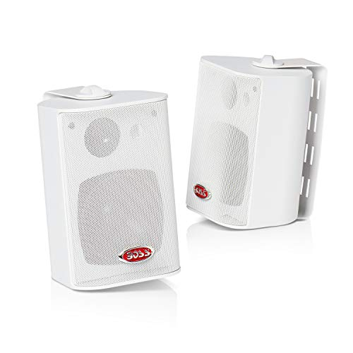BOSS Audio MR4.3W 200 Watt (Per Pair), 4.3 Inch, Full Range, 3 Way Weatherproof Marine Speakers (Sold in Pairs)
