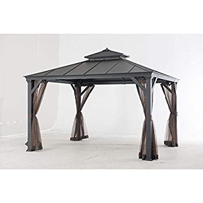Replacement Gazebo Top to L-gz1048pco-a-j5 Brown Fabric: Home & Kitchen