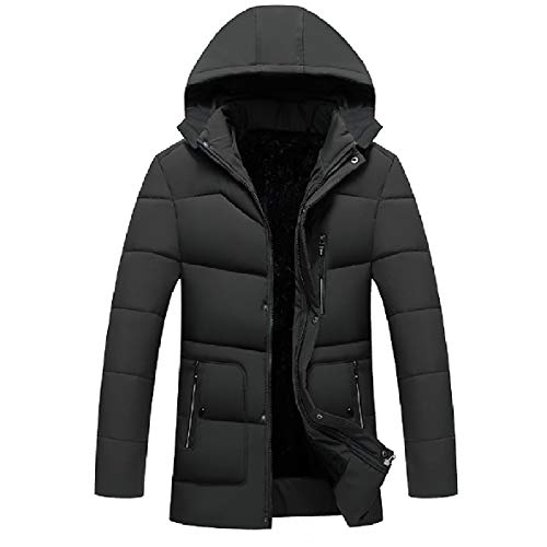 Hooded XINHEO Winter Down Thicken Zip AS1 Fitted Casual Velvet Coat up Men CCYOn4a