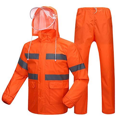 Réfléchissants Route Pluie Couche Construction Fluorescent L'eau Pantalon De À Épaisse Unique Red Geyao Nettoyage Vêtements Imperméable Spécial OwUXXx