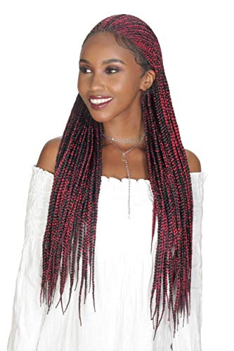 Zury Sis Synthetic Diva Braid Lace Front Wig - FULANI BOX 30