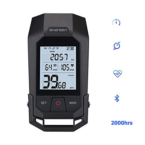 SHANREN Raptor II 2.4GHz Digital Wireless 17 Functions Bicycle Computer and 300 Lumen Bike Light in One with Cadence Speed Sensor,Calorie Counter ()