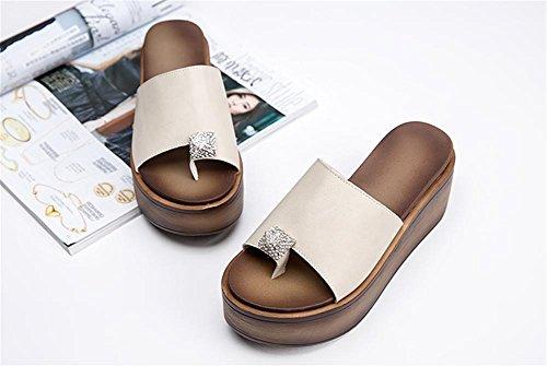 Los Deslizadores Gruesas 5 Señoras De Zapatos Las Loquat Sandalias Verano Del BH81zq