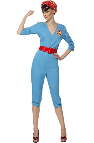 1940s Factory Girl Worker Adult Costume Costume