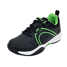 Head Sensor Court Junior Tennis Shoes Kid, Black/Green Size 4.5