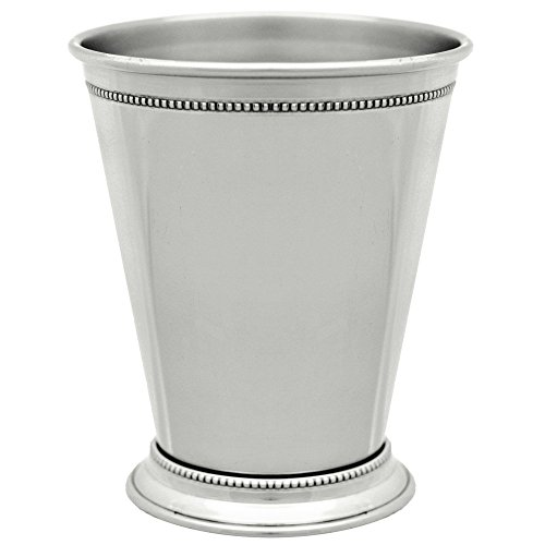 10 Strawberry Street NKL-JULEP 12 oz. Nickel Mint Julep Cup with Beaded Detailing by 10 Strawberry Street (Image #1)