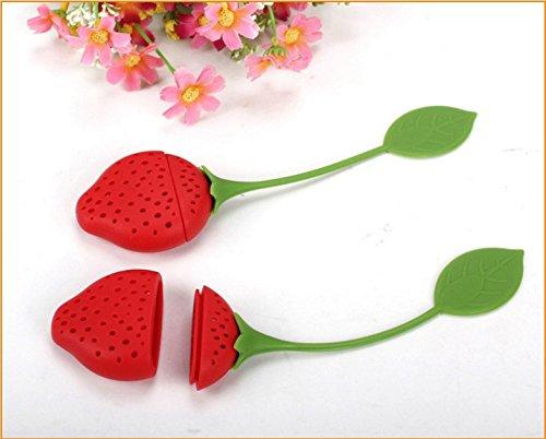 KinTTnyfgi S/ü/ße Fruit Strawberry in Design Silikon Tee Blatt-Ei Teesieb Filter f/ür Teekanne Teetasse