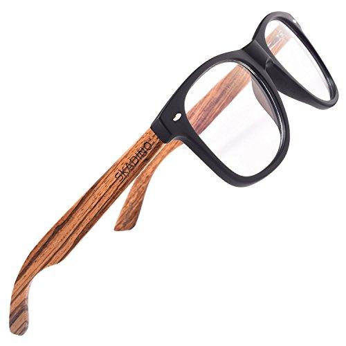 SKADINO Handmade PC Frame Blue Light Blocking Computer Zebra Wood Sunglasses for Men or - Zebra Frames Glasses