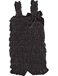 Lace Ruffle Petti Romper for Infant to 2-4t (X Large (2-4T), Black) [Apparel]